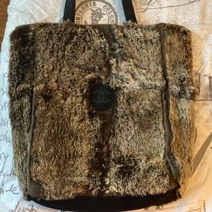 Chanel Lapin Rabbit Fur Tote